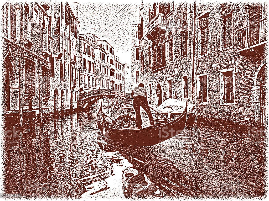 Venice Gondola royalty-free stock vector art