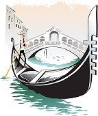Venice gondolieri