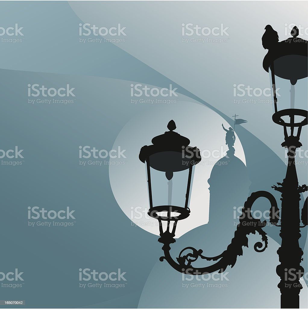 venice in the evening royalty-free stock vector art