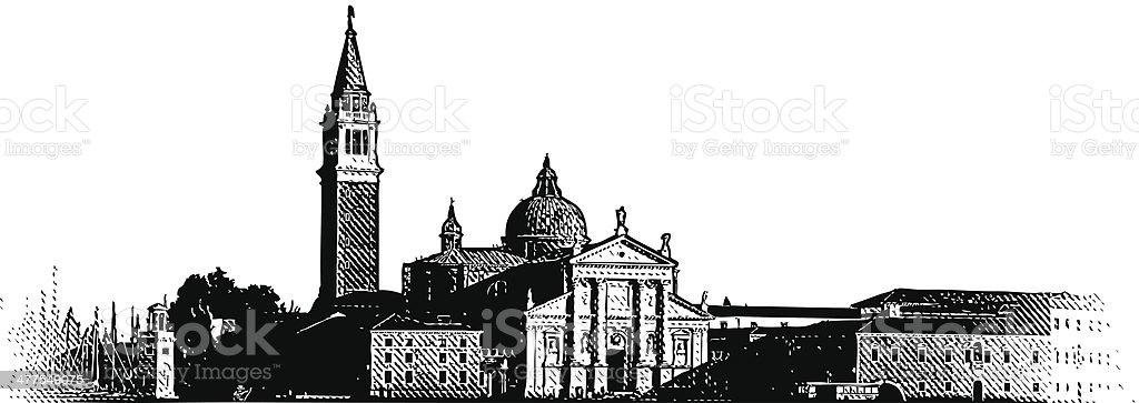 Venice, Italy vector art illustration