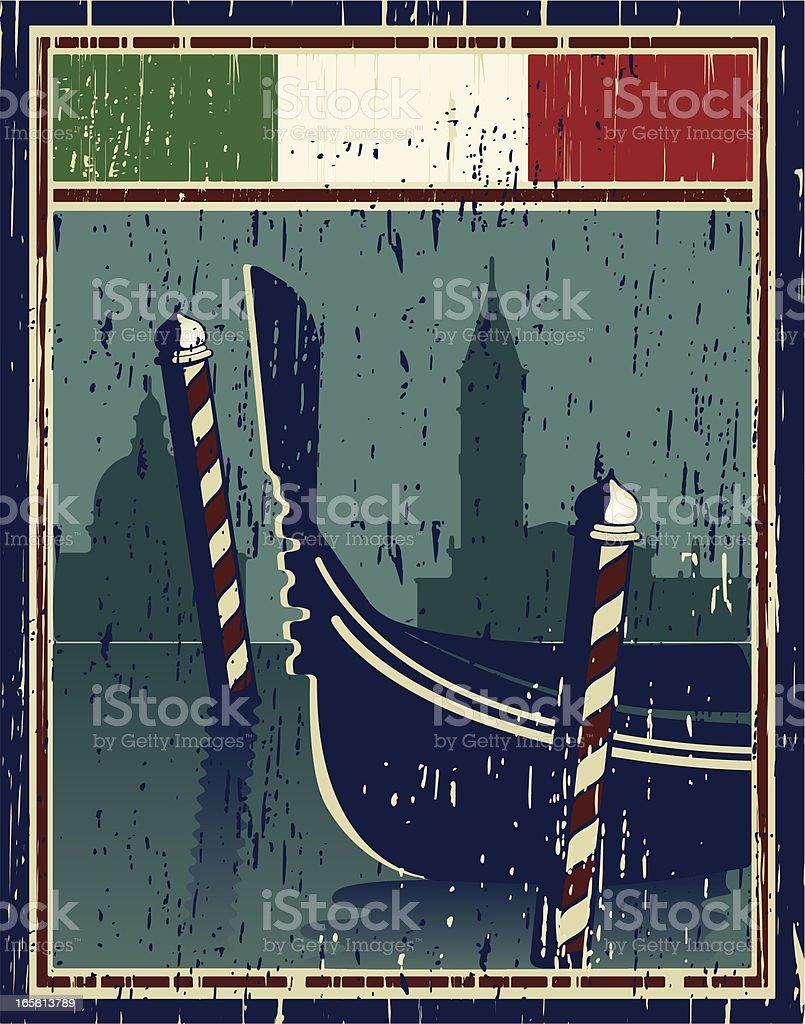 venice poster vector art illustration