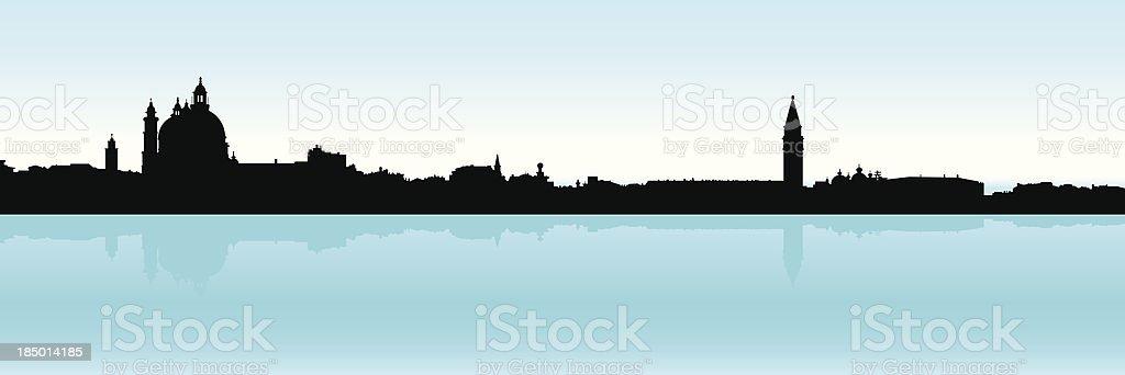 Venice Silhouette royalty-free stock vector art