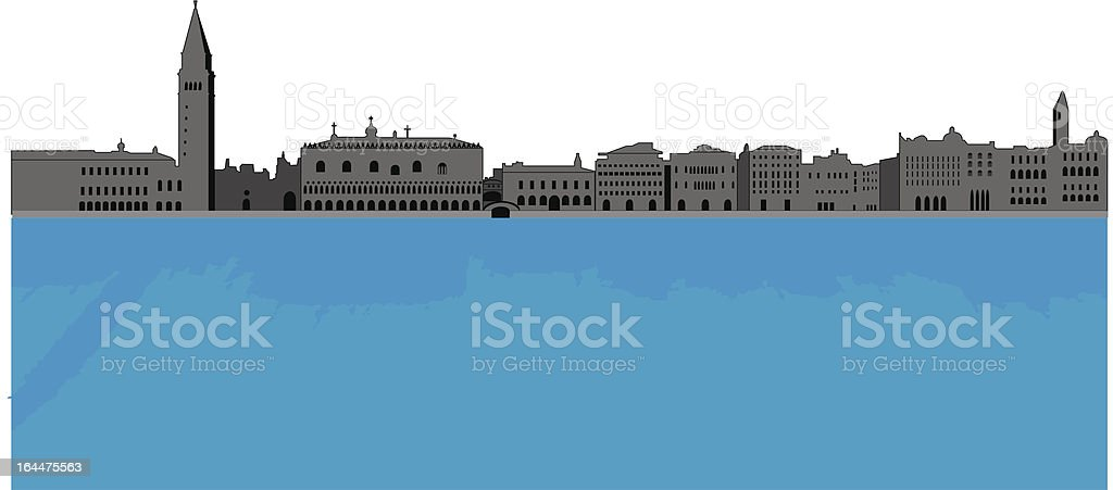 Venice Skyline royalty-free stock vector art
