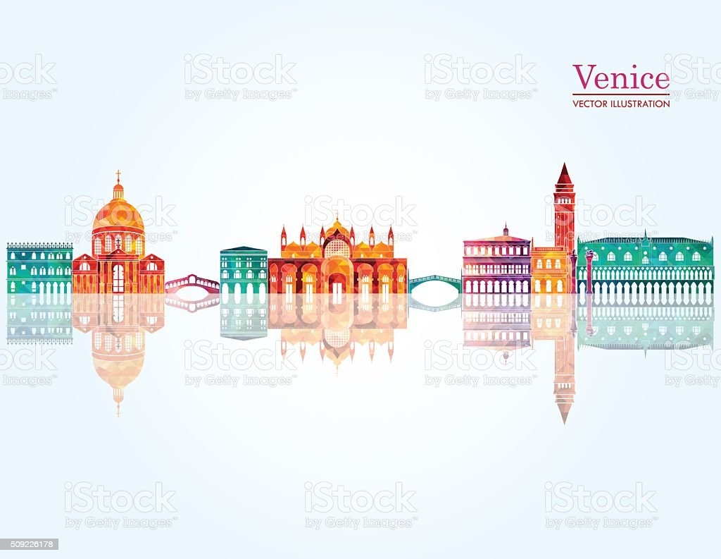 Venice skyline. Vector illustration vector art illustration