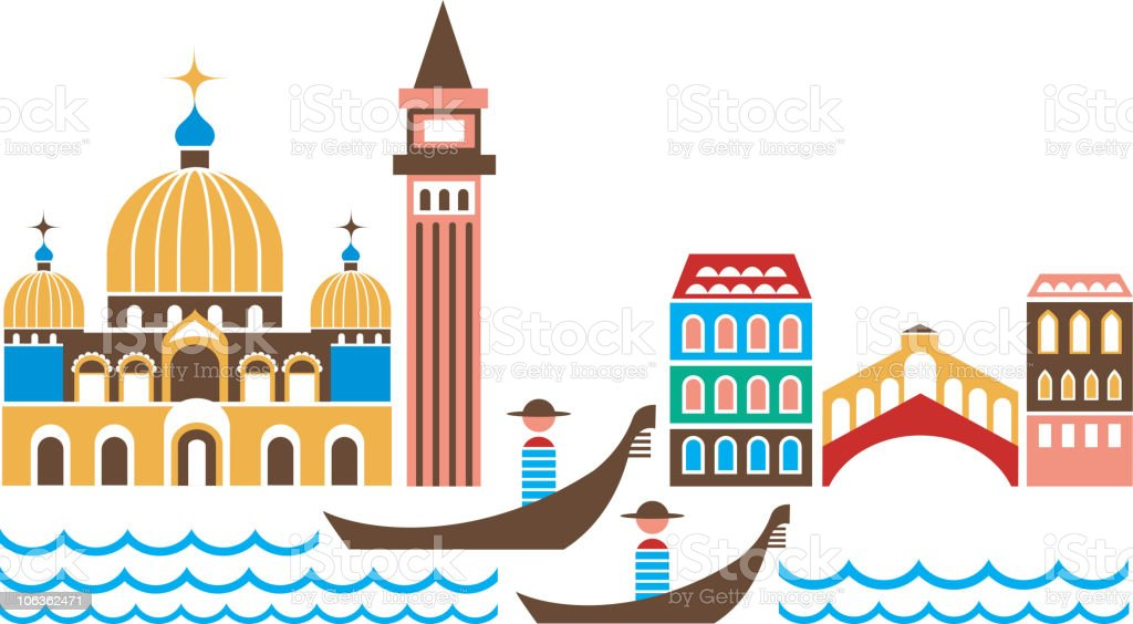 Venice vector art illustration