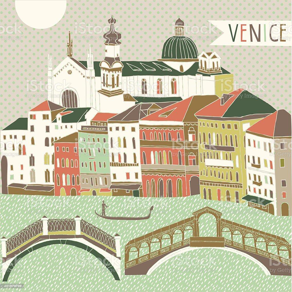 Venice vector art illustration