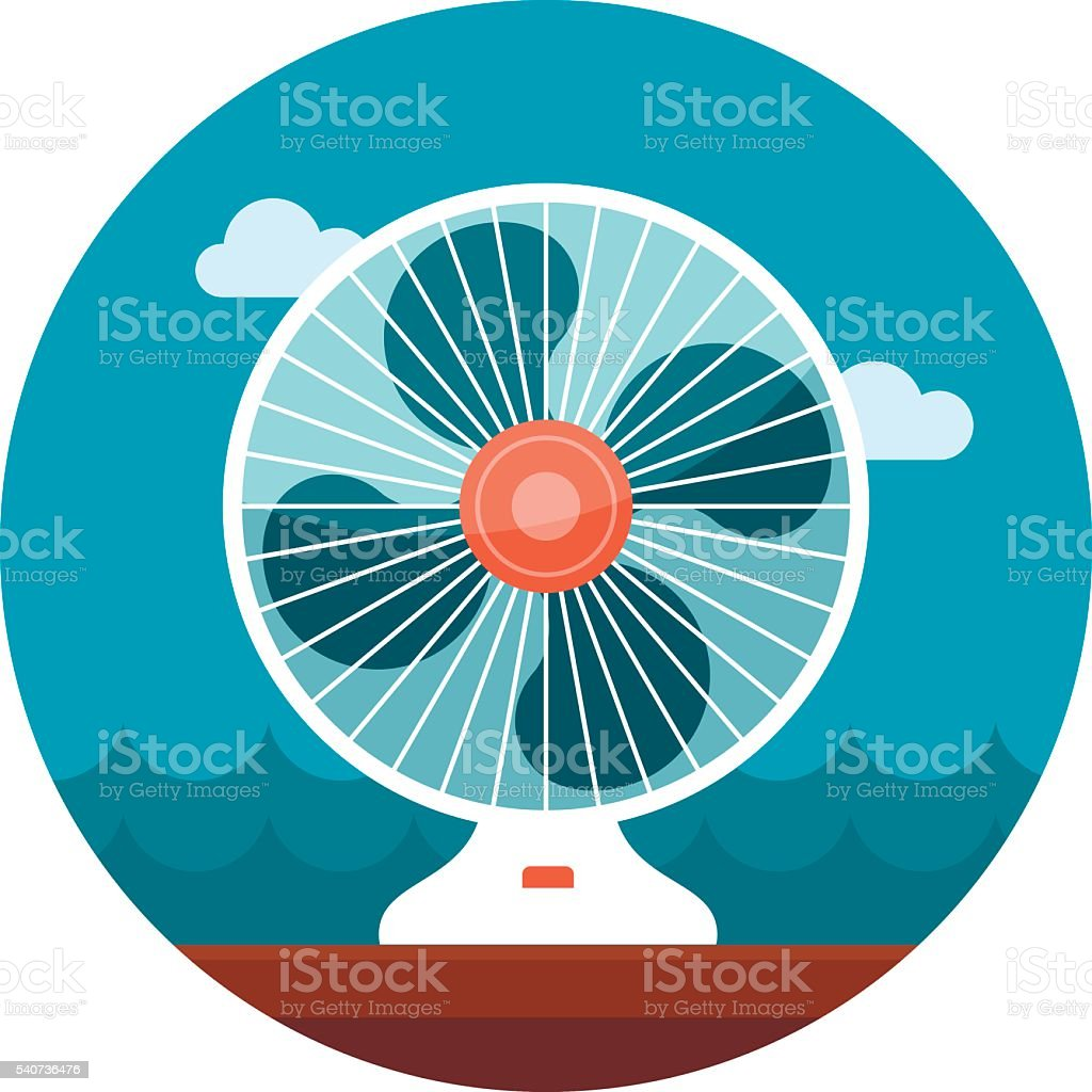 Ventilator icon. Summer. Vacation vector art illustration