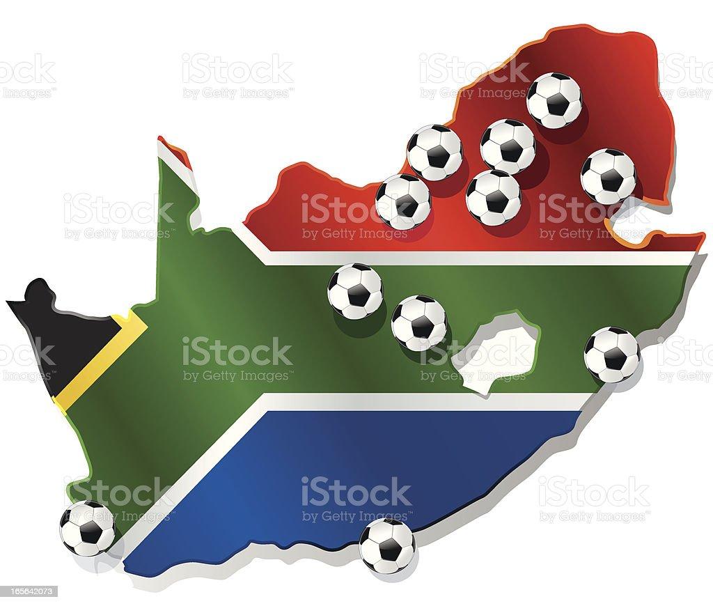 WM 2010 venues of FIFA WC South Africa vector art illustration