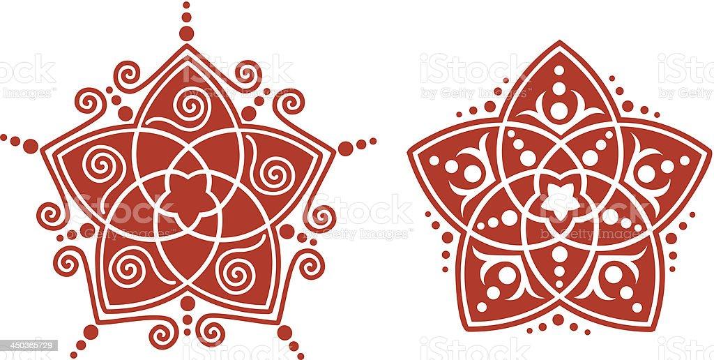 Venus Flower Pentagram - Golden Ratio vector art illustration