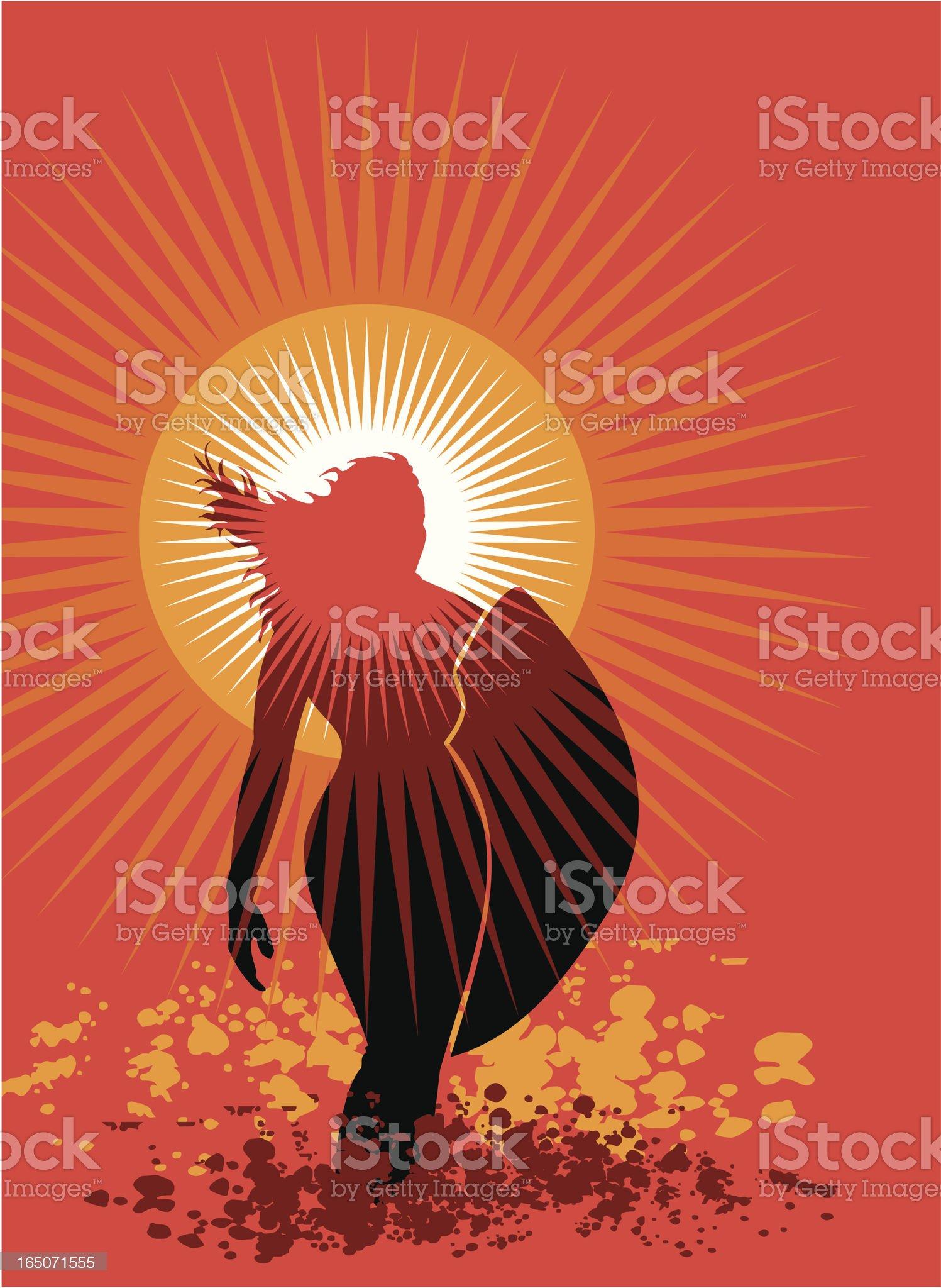 Venus Sunset Surfer royalty-free stock vector art