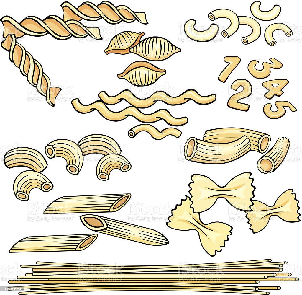 Vermicelli, spaghetti, pasta icons set royalty-free stock vector art