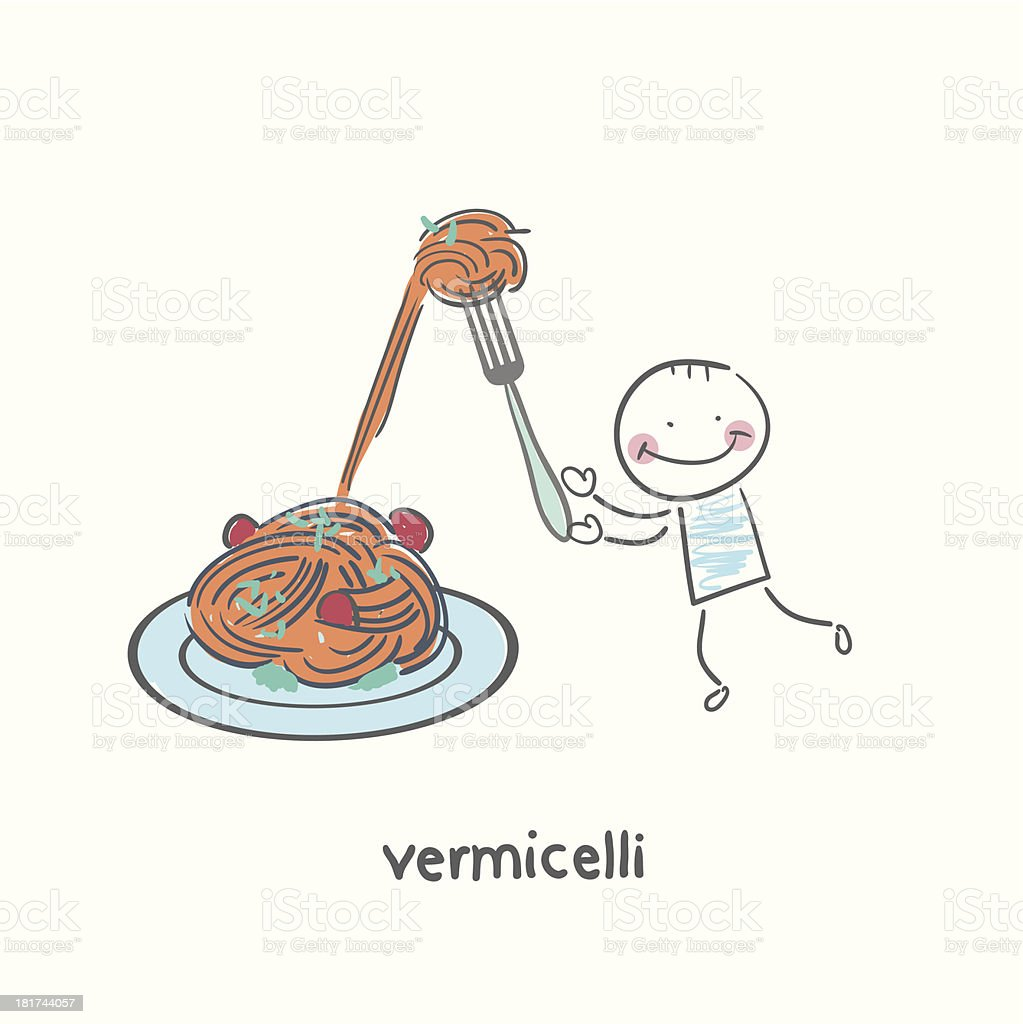 vermicelli royalty-free stock vector art