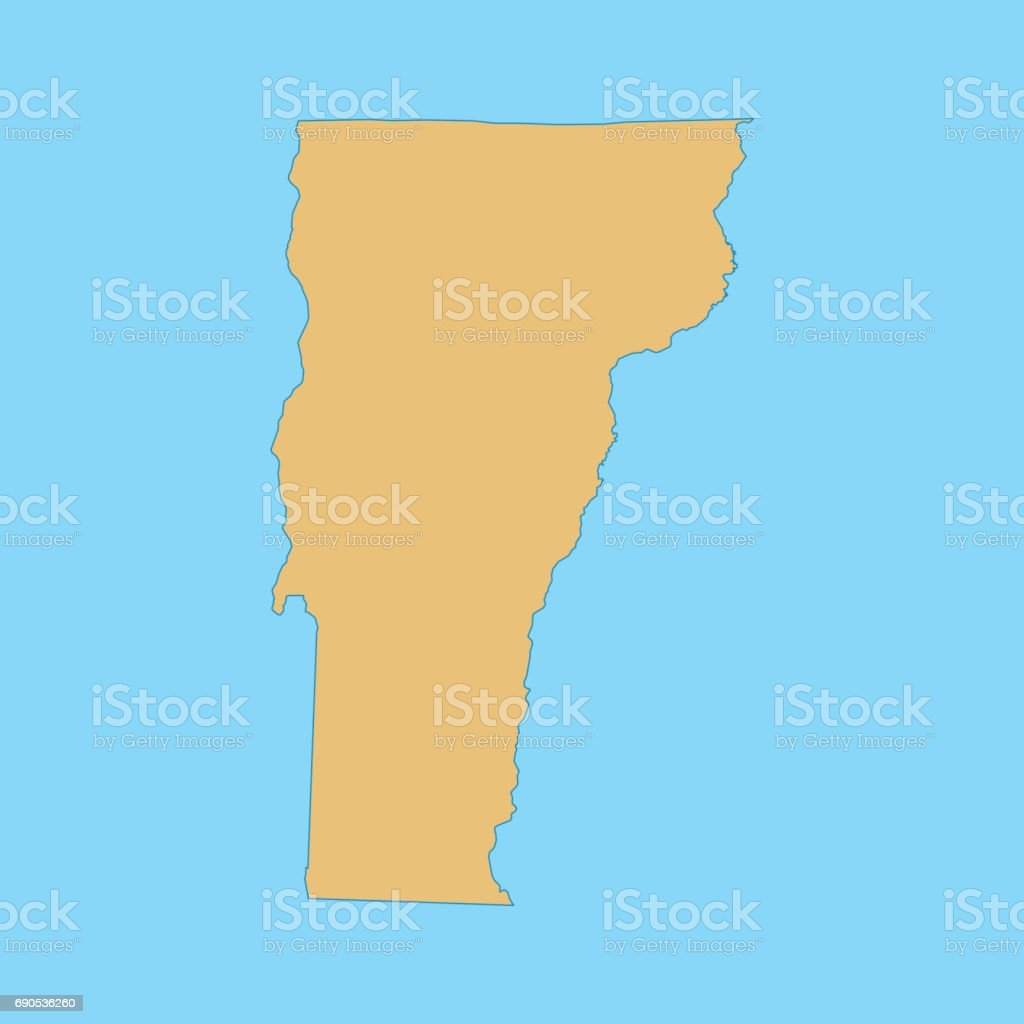Vermont Map stock vector art 690536260 iStock