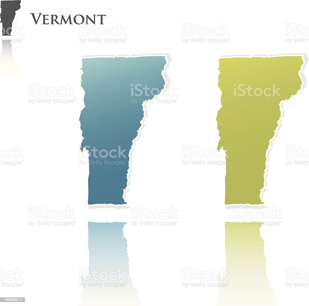 vermont state graphic royalty-free stock vector art
