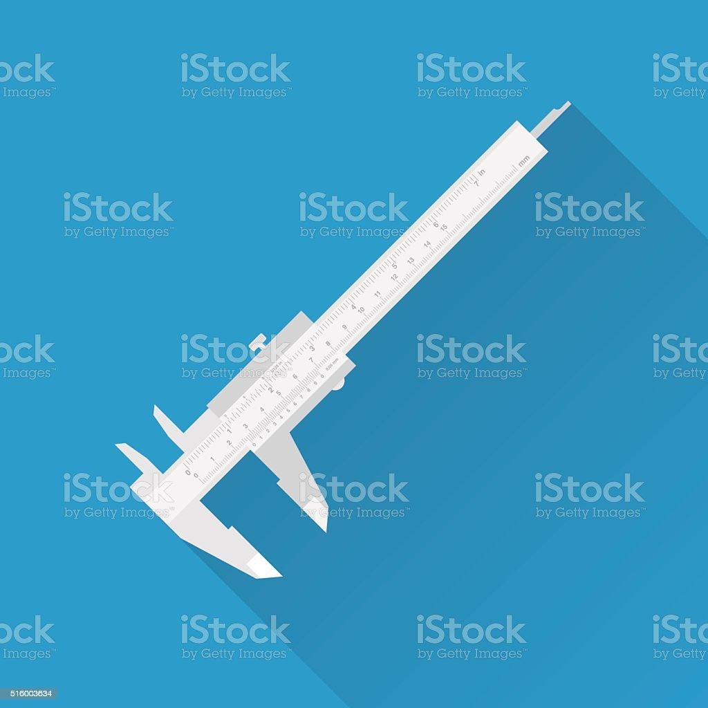 Vernier caliper tool vector art illustration