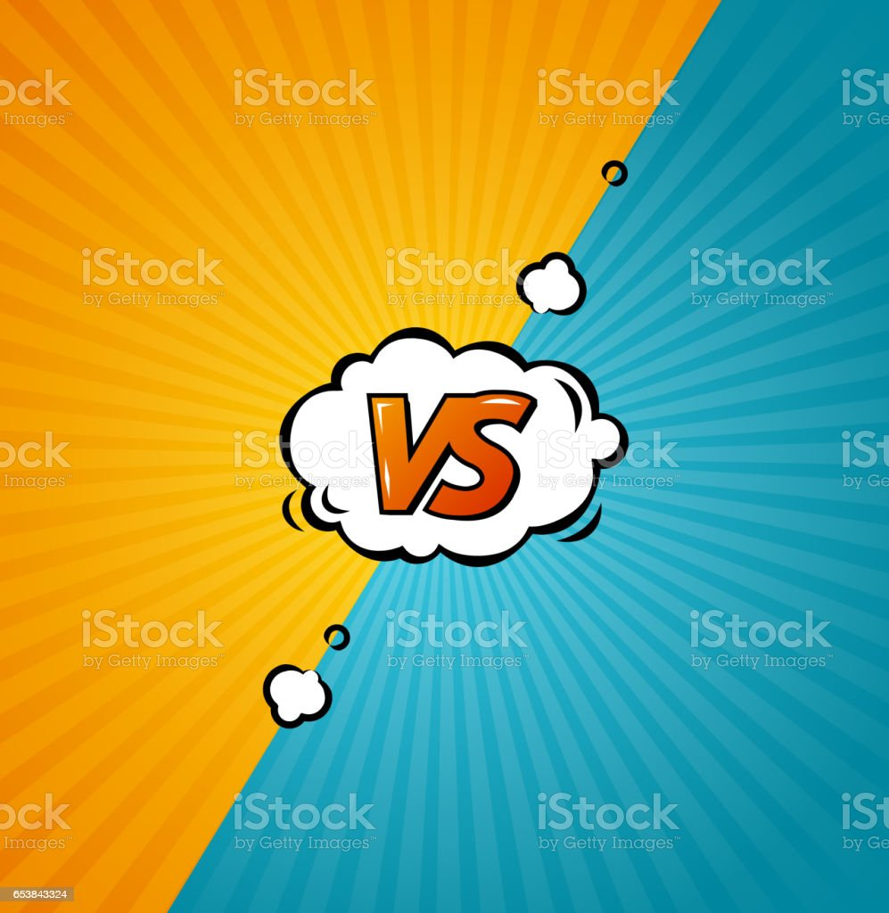 Versus Background. Vector vector art illustration