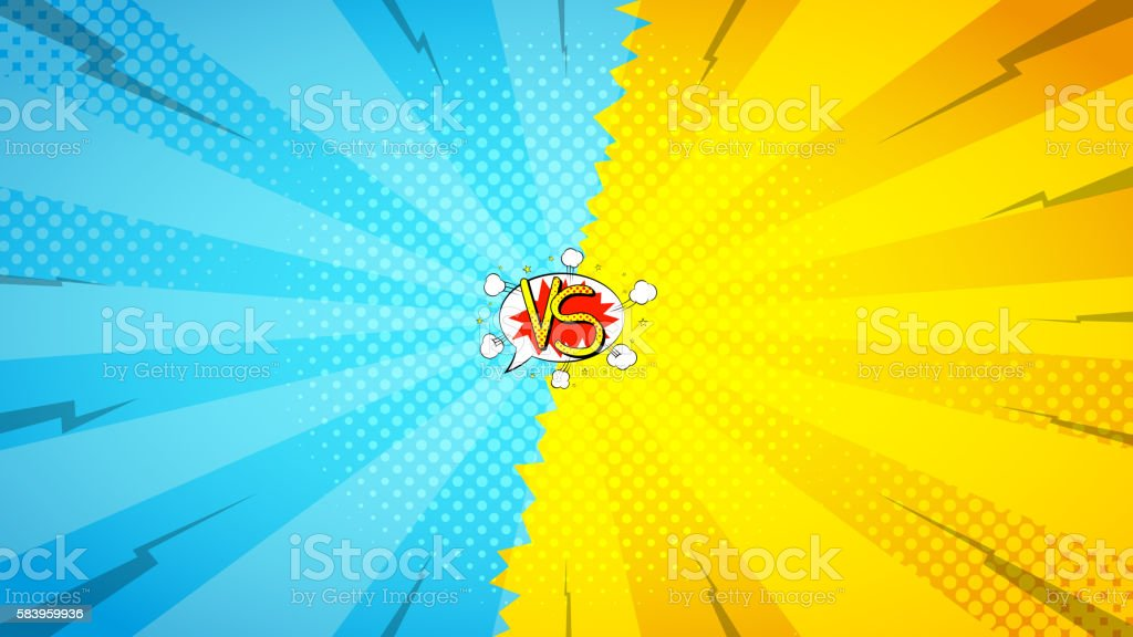 Versus letters fight backdrop royalty-free stock vector art