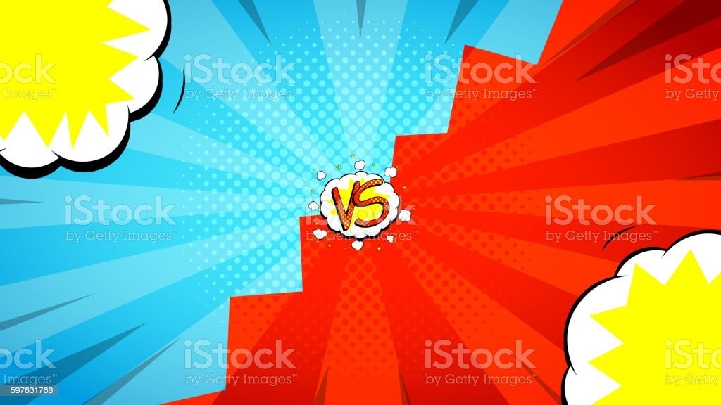 Versus letters fight background royalty-free stock vector art