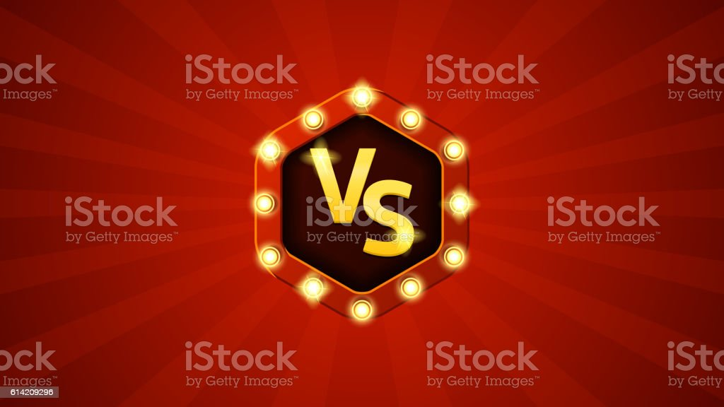 Versus letters fight illustration royalty-free stock vector art
