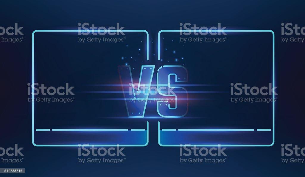 Versus screen design vector art illustration