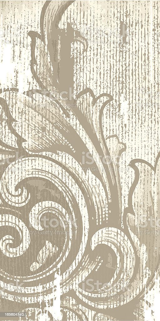 Vertical Antique Scroll royalty-free stock vector art