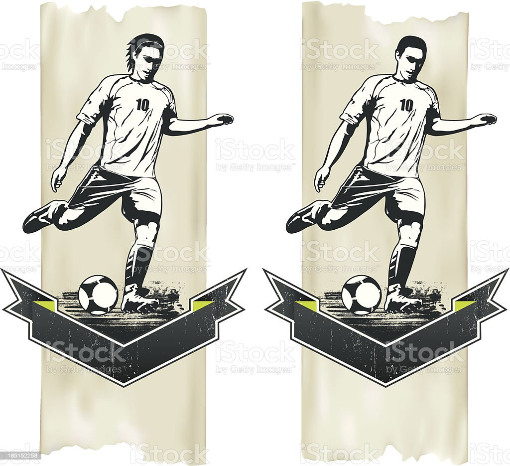 vertical background with soccer player royalty-free stock vector art
