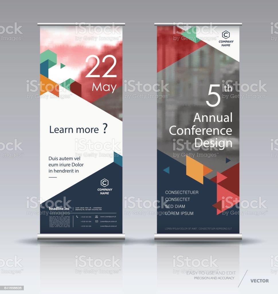 Vertical banner design vector art illustration