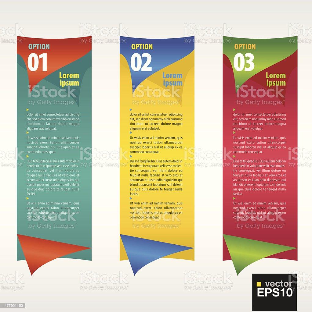 Vertical banner vector with number. vector art illustration
