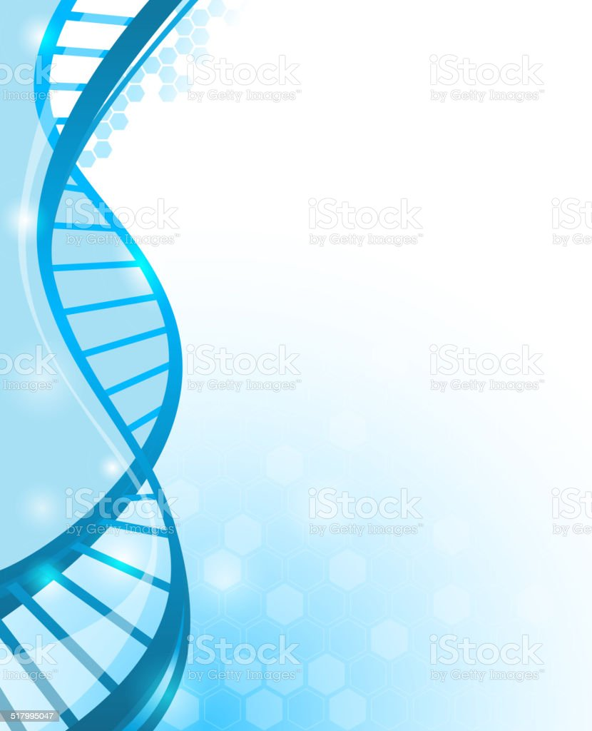 DNA vertical bg vector art illustration