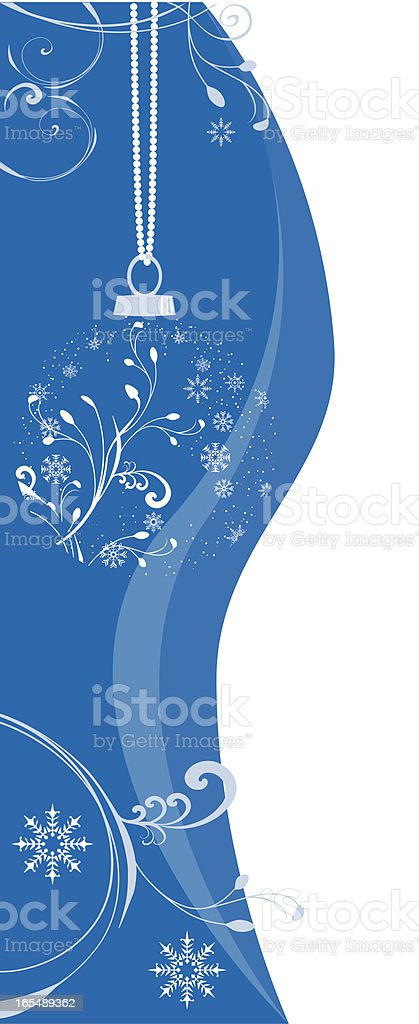 vertical blue royalty-free stock vector art