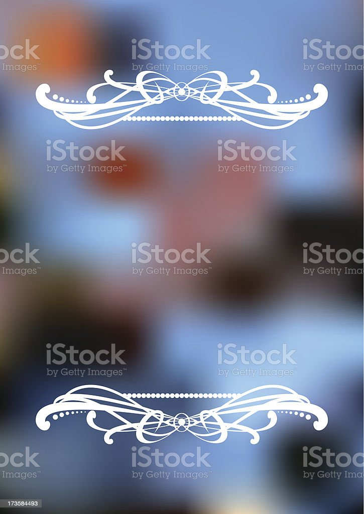 Vertical blurry background with ornament. royalty-free stock vector art