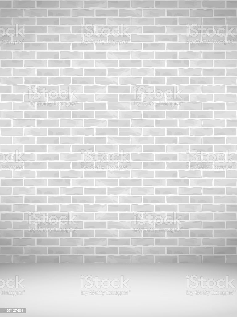 Vertical Brick Wall vector art illustration