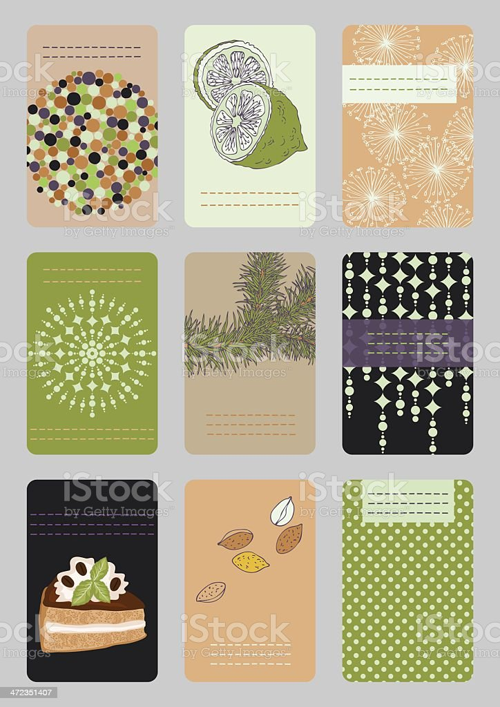 Vertical Business Cards royalty-free stock vector art