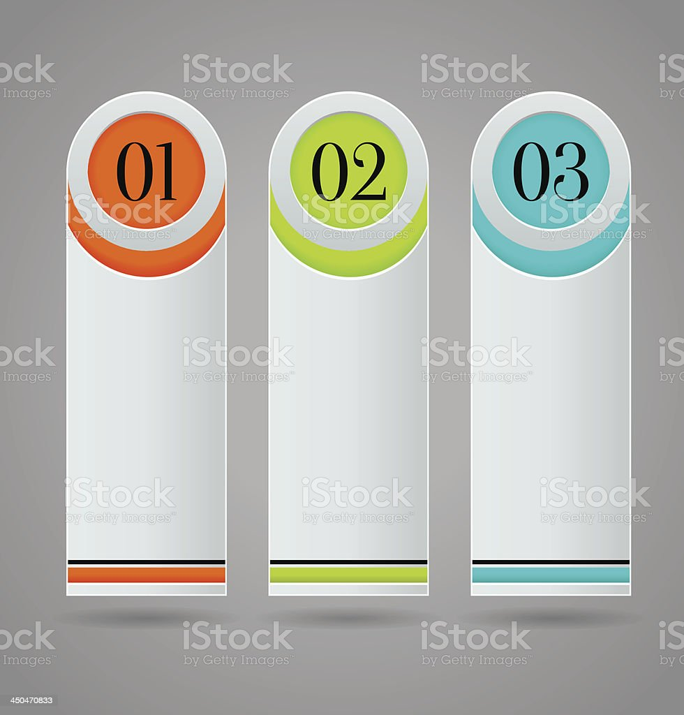 Vertical colorful options banner template royalty-free stock vector art