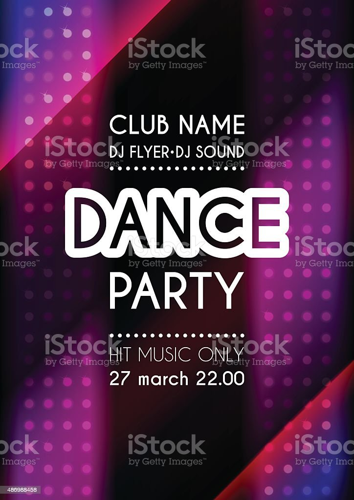 Vertical dance party colorful background with mosaic. vector art illustration
