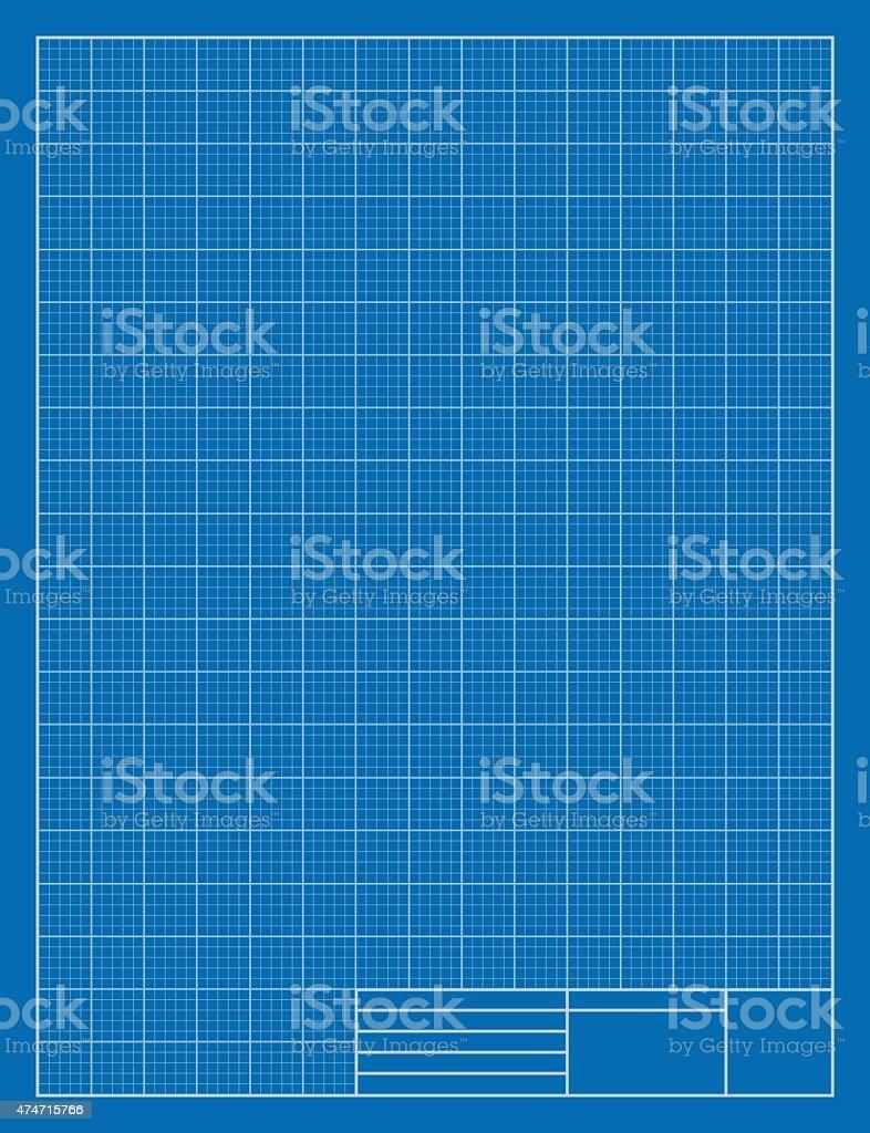 Vertical Drafting Blueprint, Grid, Architecture vector art illustration