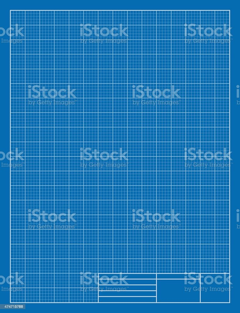 Vertical Drafting Blueprint, Grid, Architecture vector art illustration