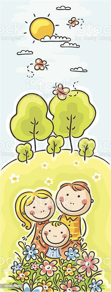Vertical family banner royalty-free stock vector art