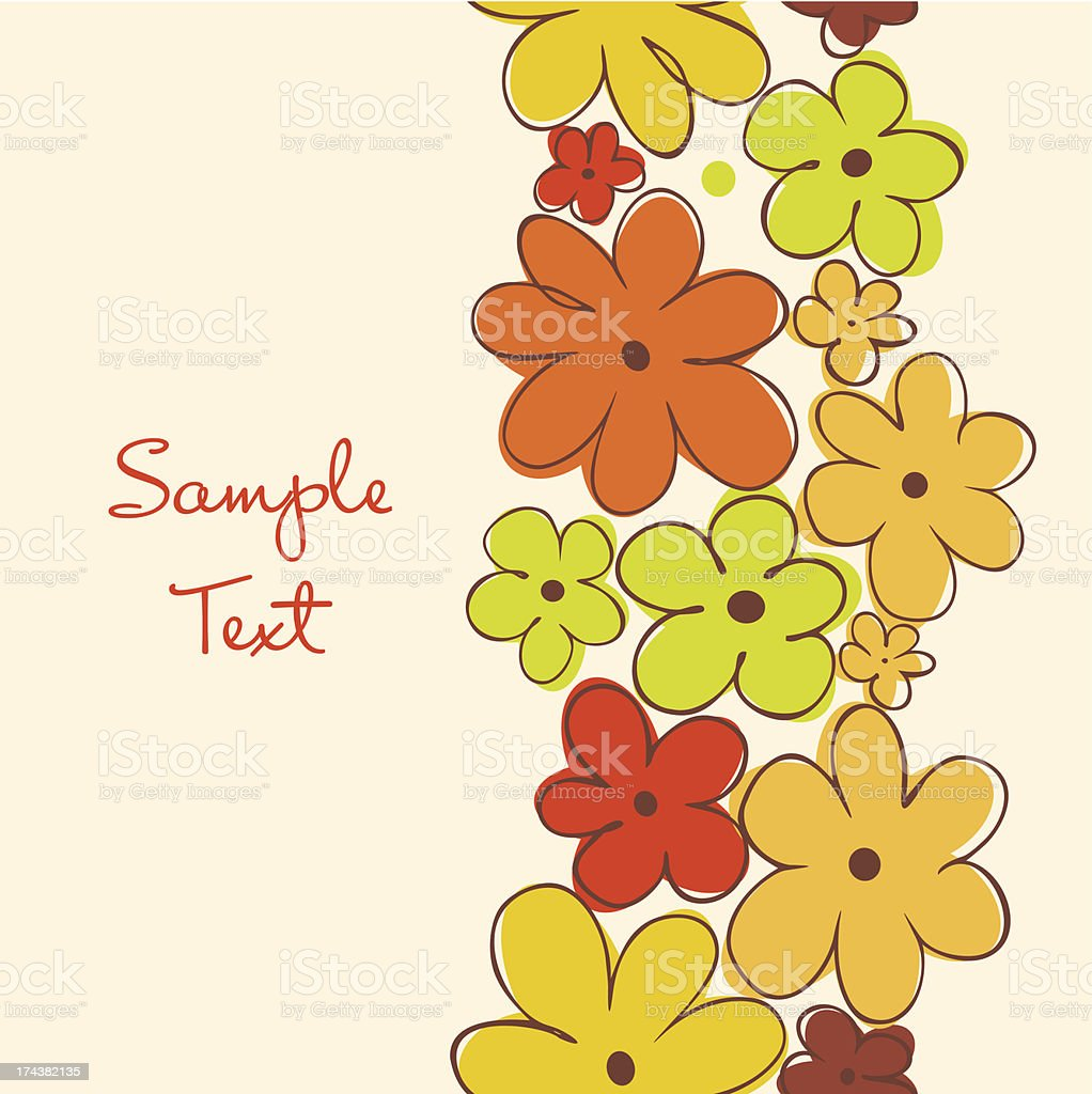 Vertical floral banner royalty-free stock vector art