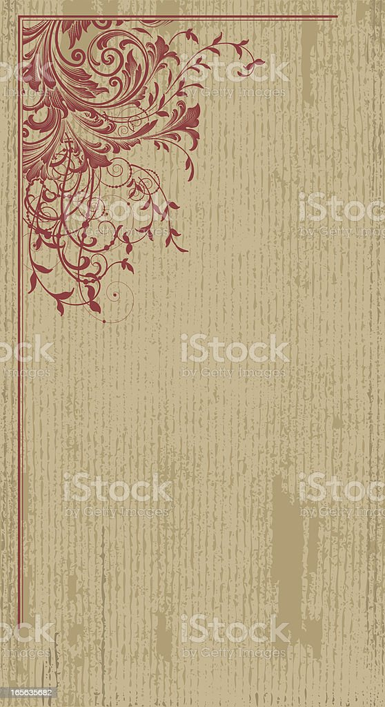 Vertical Floral Corner royalty-free stock vector art