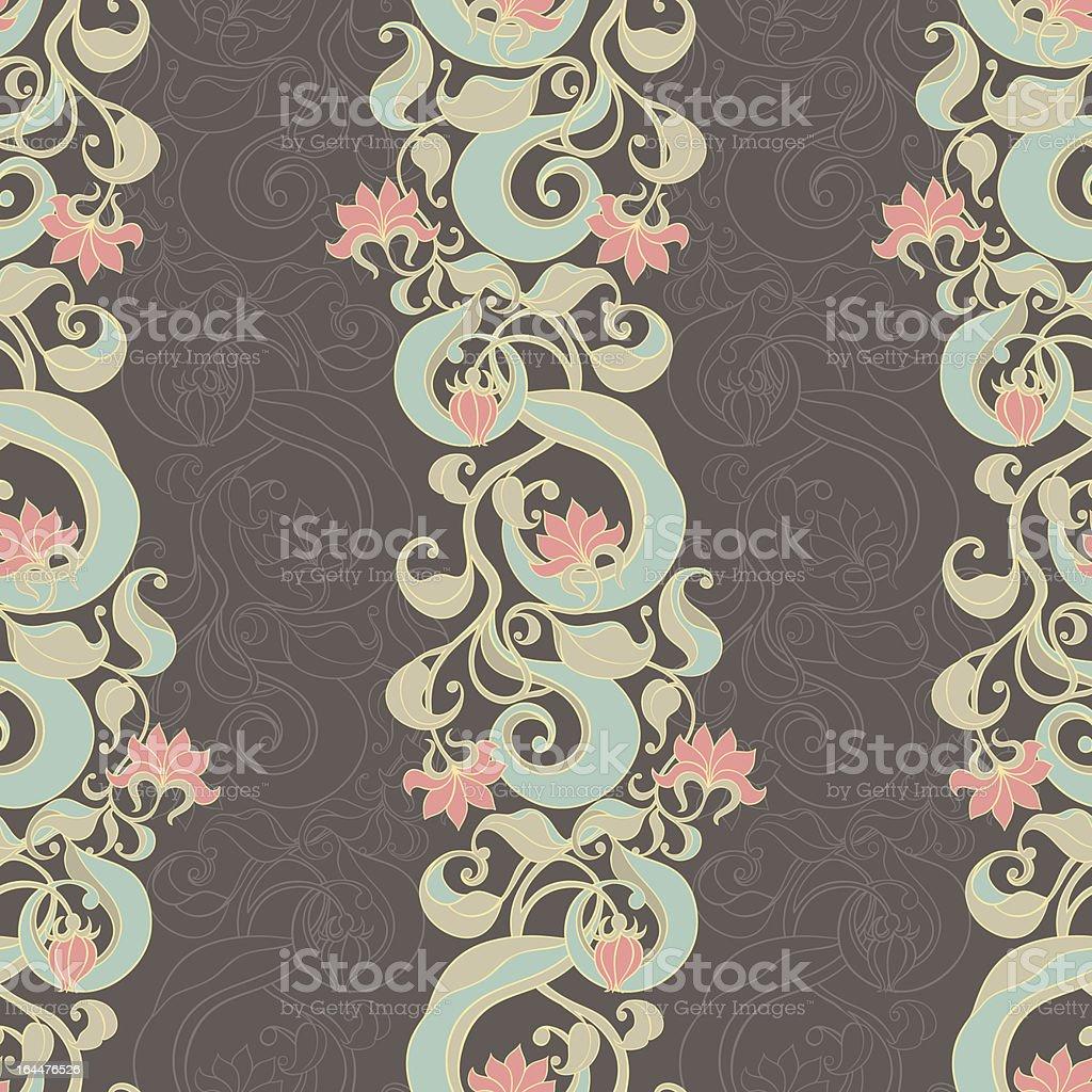 vertical floral dark pattern royalty-free stock vector art