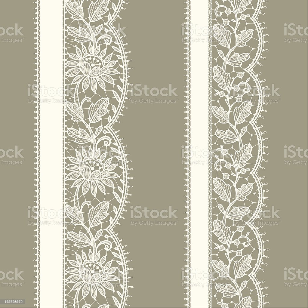 Vertical Floral Seamless Pattern. White Lace. royalty-free stock vector art
