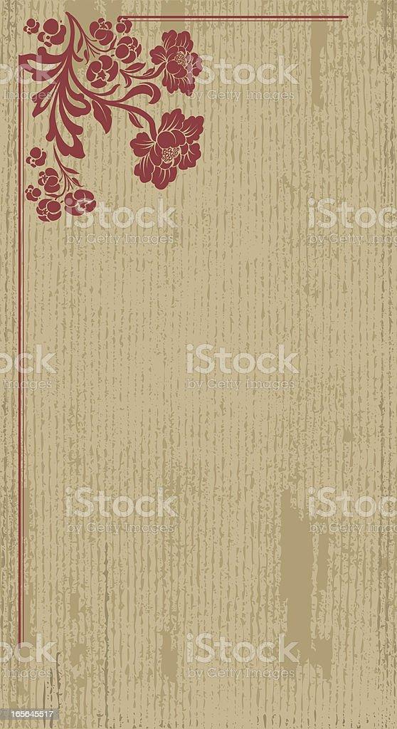 Vertical Flower Banner royalty-free stock vector art