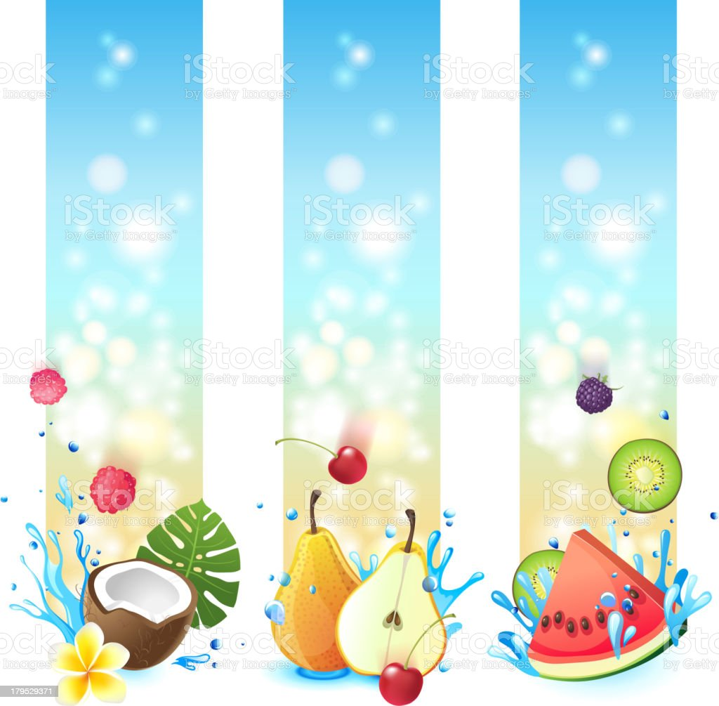 vertical fruits banners royalty-free stock vector art