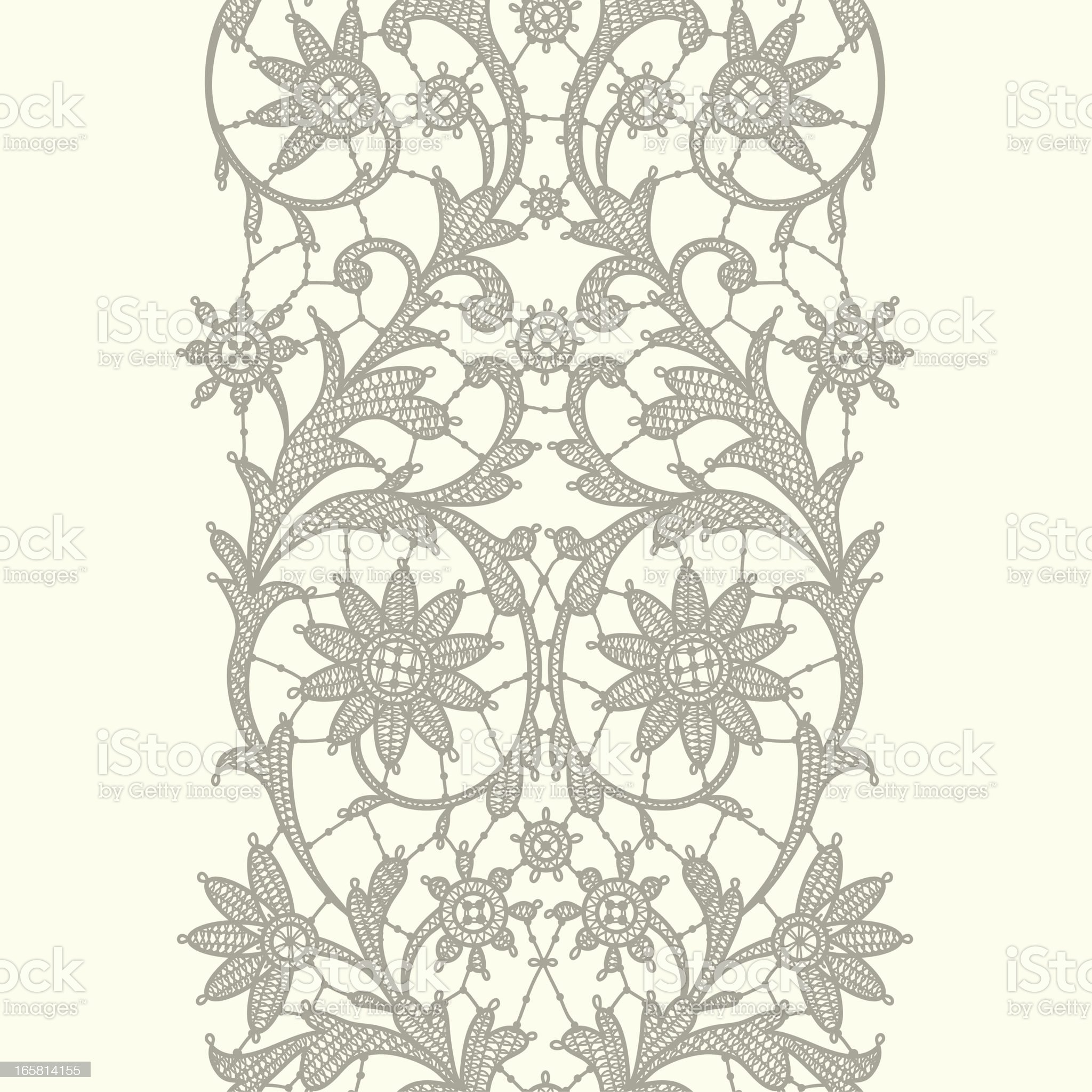 Vertical Lace Ribbon. Seamless Pattern. royalty-free stock vector art