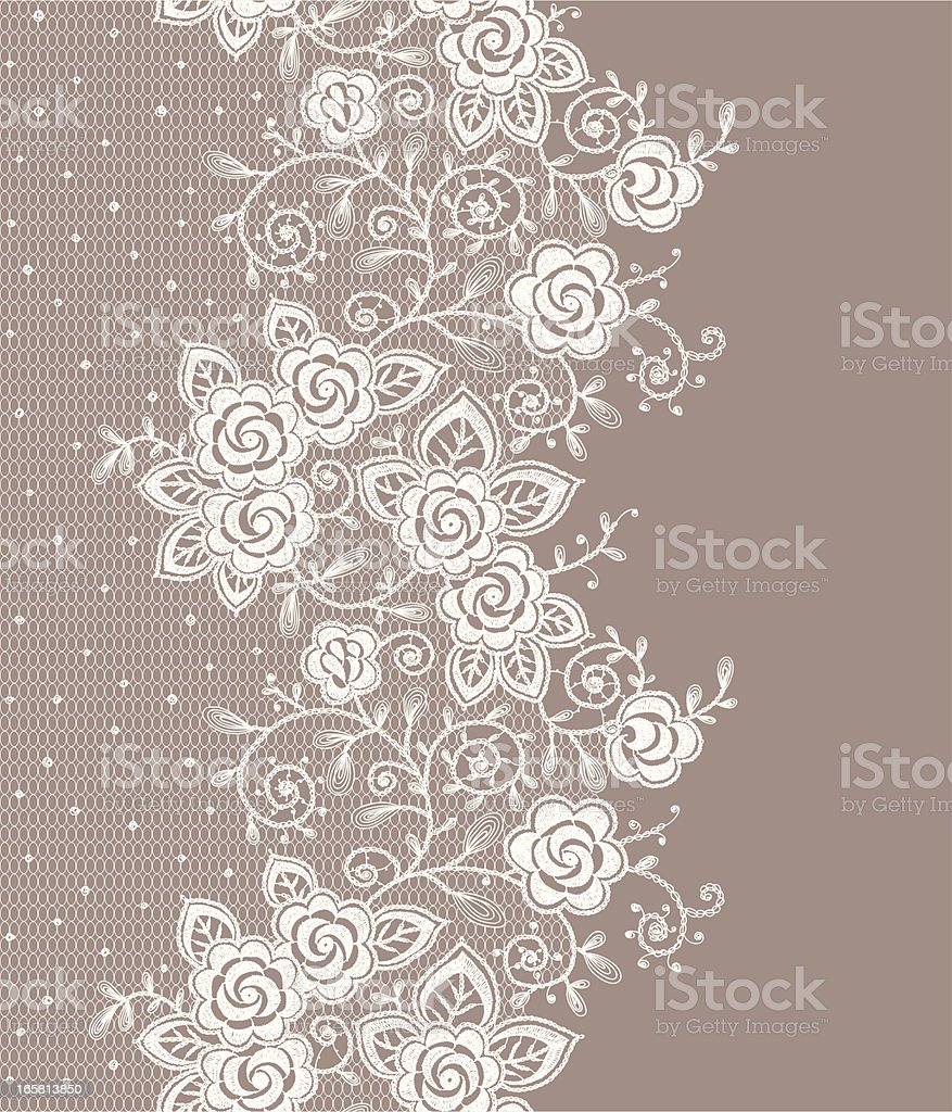 Vertical lace seamless pattern. vector art illustration
