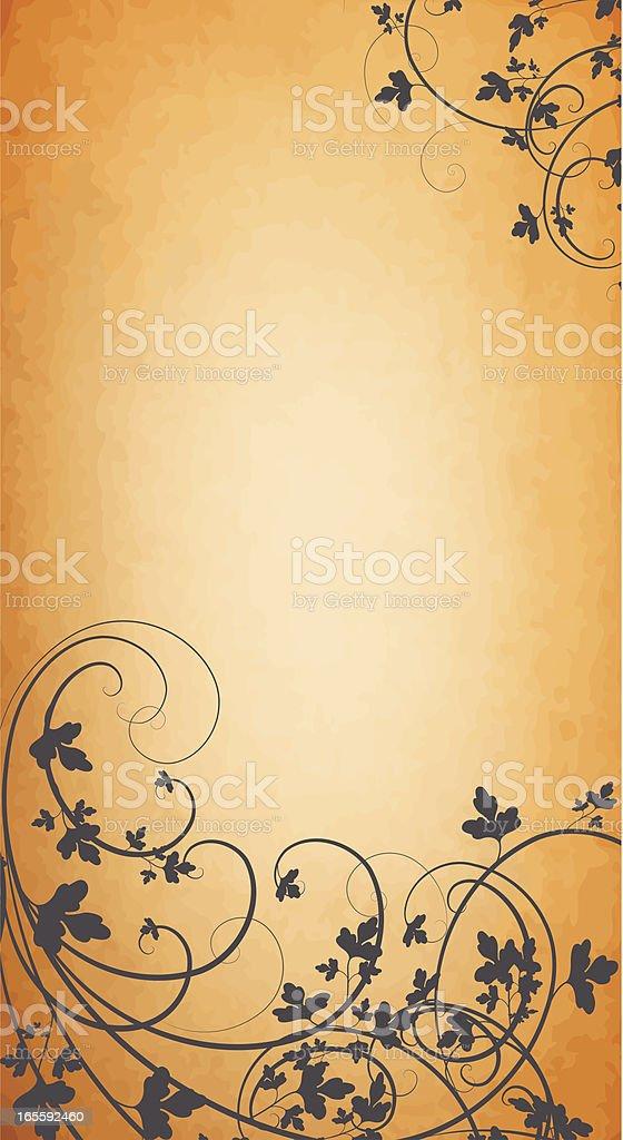 Vertical Leaf Gradient royalty-free stock vector art