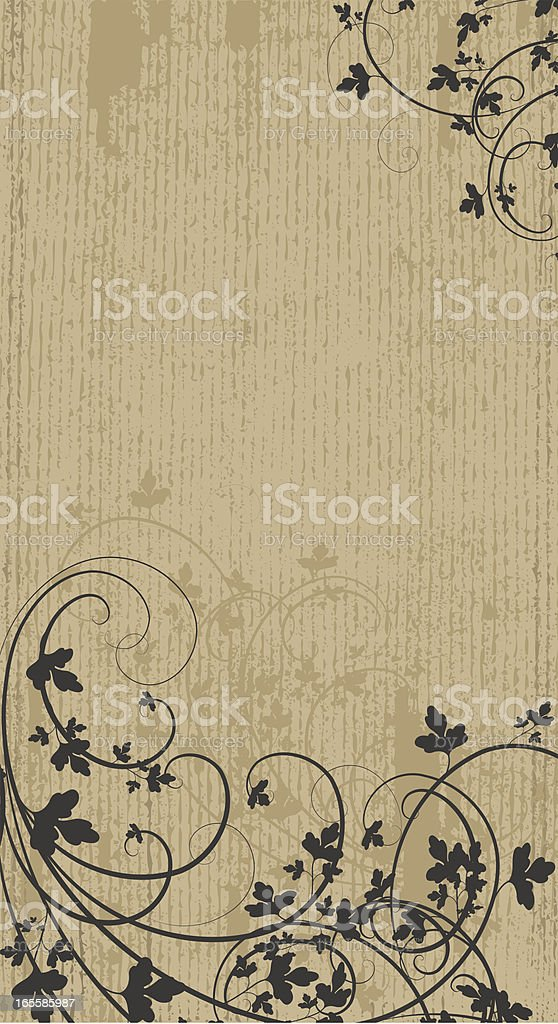 Vertical Leafy Banner royalty-free stock vector art