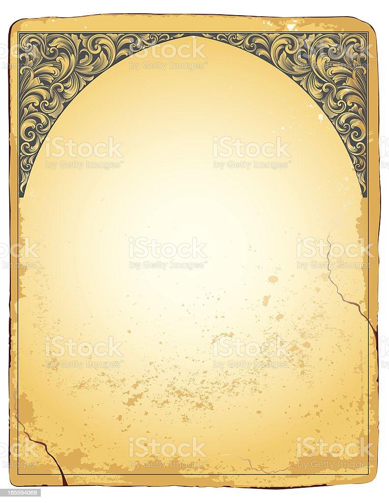 Vertical Ornamental Scroll Corners vector art illustration