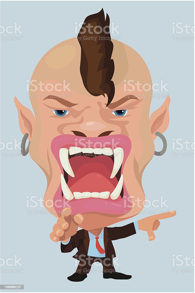 Very angry Businessman royalty-free stock vector art